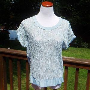 Lacey Zip Crochet Top